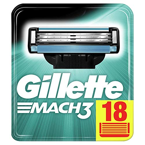 Gillette Mach3 Rasierklingen für Männer, 18 Stück, Briefkastenfähige Verpackung