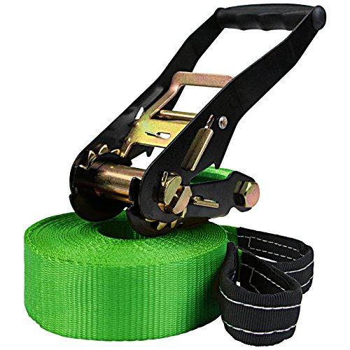 ALPIDEX Slackline 15 m belastbar bis 2 t, Farbe:grün