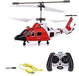 elicottero radiocomandato rc, 3,5canali, 2,4ghz e tecnologia giroscopica, modello ad eliche, pronto per volare, con crash kit
