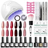 Best Nail Polish Kits - TOMICCA Pink Red Black Gel Nail Polish Kit Review