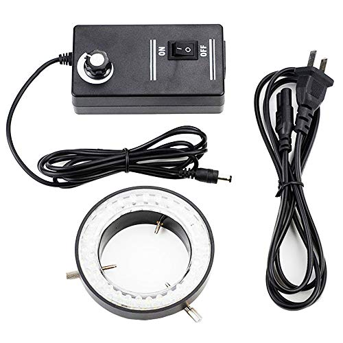 Adjustable Ring Light Illuminator Lamp for Stereo Zoom Microscope Industrial Camera 56LED