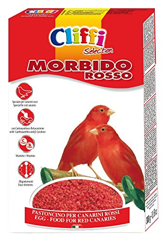 Cliffi Morbido rosso Pastoncino per Canarini rossi in confezione da 300 grammi