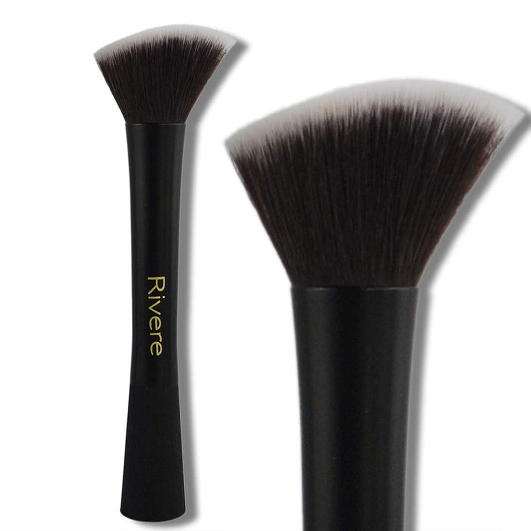 かみそり活気づく腐食するSdhisi Iu 2本の化粧ブラシツール繊維ファンデーションブラシフェイスメイク (色 : 黒)