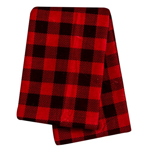 Brown and Red Buffalo Check Deluxe Flannel Swaddle Blanket