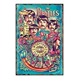 Posters of Rock Bands - The Beatles Poster Tin Signs Vintage Wall Decor for Cafe Bar Pub Decor 8x12 Inch Metal tin Sign, Iron Paint, Aluminum Sign