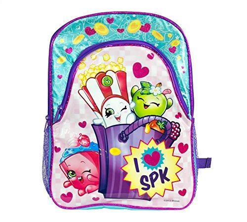 "Shopkins Girls I Love SPK 16"" Large School Backpack (One Size, Blue/Pink)"