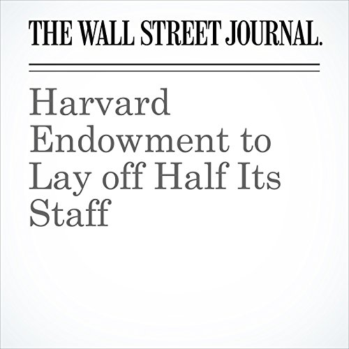 Harvard Endowment to Lay off Half Its Staff copertina