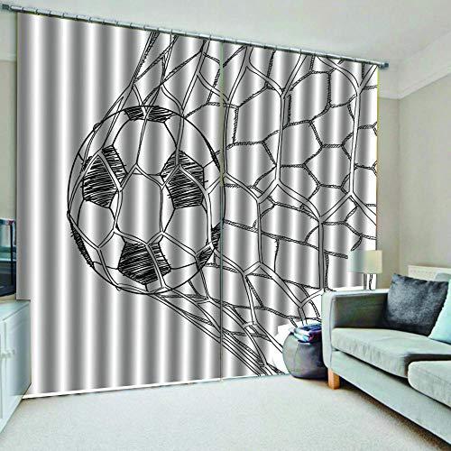 cortinas dormitorio juvenil futbol