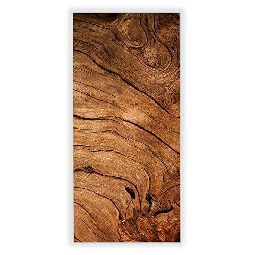 Banjado Wechselscheibe für IKEA GYLLEN Wandlampe | Glasscheibe für Wandleuchte 56x26cm | Echtglas Motiv Trockenes Holz | Hochformat