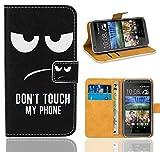 HTC Desire 620 Handy Tasche, FoneExpert® Wallet Case Flip Cover Hüllen Etui Ledertasche Lederhülle Premium Schutzhülle für HTC Desire 620 (Pattern 15)