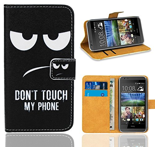 HTC Desire 620 Handy Tasche, FoneExpert® Wallet Hülle Flip Cover Hüllen Etui Ledertasche Lederhülle Premium Schutzhülle für HTC Desire 620 (Pattern 15)