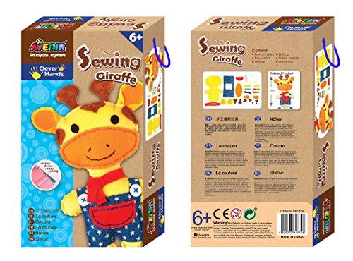 DIY Nähset, Sewing Giraffe, Bastelset für Kinder, Kreativ-Set, ab 6 Jahren