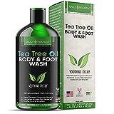 Tea Tree Oil Body Wash, Helps Athlete's Foot, Body...
