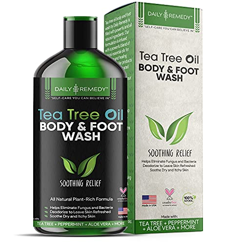 Tea Tree Oil Body Wash, Helps Athlete's Foot, Body Odor, Jock Itch, Ringworm, Yeast Infections, Skin...