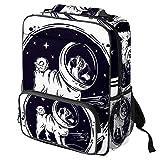 TIZORAX - Mochila escolar para niñas y niños, para estudiantes, carlino, casco de astronauta, mochila de viaje, casual, para viajes, senderismo, acampada