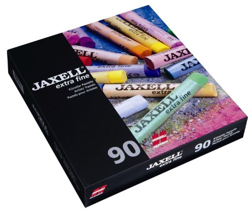 Honsell 46090 - Jaxell extra fine Künstlerpastelle, 90er Set im Kartonetui, weicher Farbabstrich, hohe Farbbrillanz, für Künstler, Hobbymaler, Schule, Kunstunterricht und Ausbildung