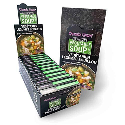 Oma's Own Bouillon Soup Cubes, 2 OZ | Vegetarian | Gluten Free | (Grandma's Vegetable Medley, Pack - 12)