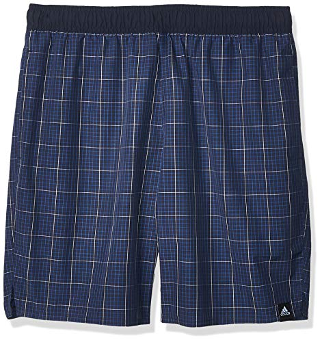 adidas Mens Check CLX Board Shorts, Legend Ink, 10