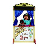 Excellerations Free-Standing Dramatic Play Puppet Theater with Dry Erase Panel and Curtains, Educational Toy, Pretend Play, Preschool