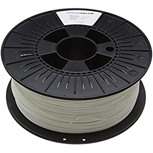 3D Prima PrimaValue PLA Filament, 1.75 mm, 1 kg Spool, White:Autobit