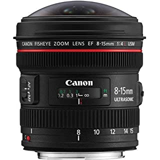 Canon EF 8-15mm f/4L Fisheye USM - Objetivo para Canon (Distancia Focal 8-15mm, Apertura f/4-22, Zoom óptico 1.9X,) Negro (B0040YEFKI) | Amazon price tracker / tracking, Amazon price history charts, Amazon price watches, Amazon price drop alerts