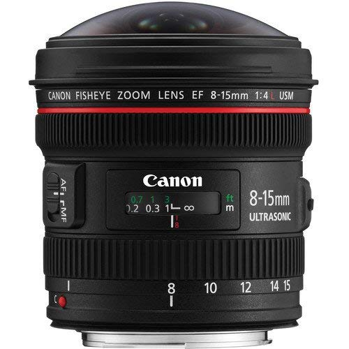 Canon Zoomobjektiv EF 8-15mm F4L USM Fisheye für EOS (Filterhalter, Autofokus), schwarz