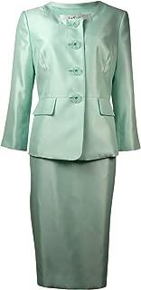 Le Suit Women/'s Petite Diamond Jacquard 3 Button N Choose SZ//color