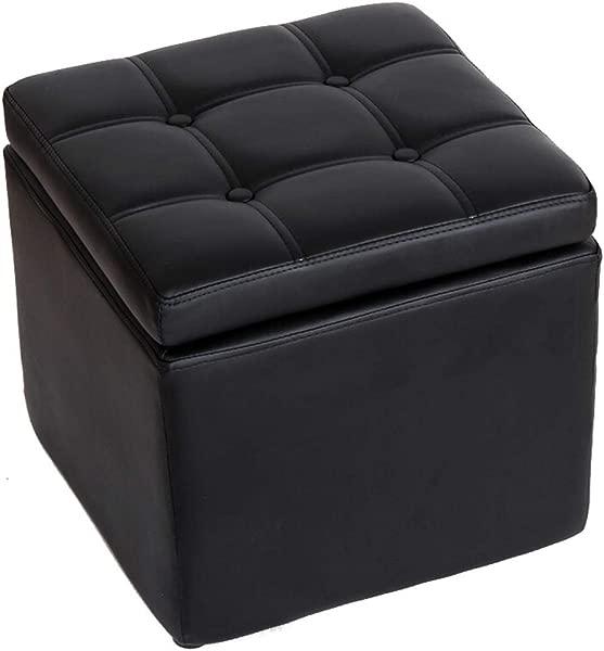 脚凳立方体皮革沙发凳鞋凳收纳收纳透气耐磨易清洗 40 40 40厘米 6 种颜色可供选择