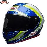 BELL Cascos Racestar, Sector Blanco/Verde/Azul, Talla S
