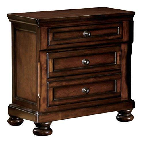 Homelegance Mardelle 2-Drawer Nightstand, Cherry