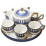 Haozhang225 Set da caffè Bone China Set da tè Set da 6 Pezzi Set da 6 piattini Tazza da caffè in Ceramica Set Regalo