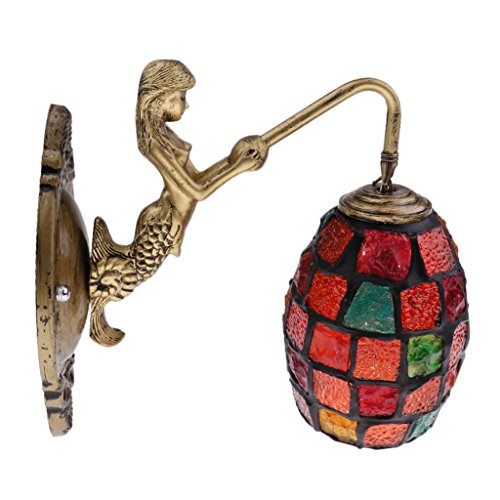 F Fityle Türkische Marokkanische Mosaik Wandleuchte Lampe Lampenschirm Handgemachtes Handwerk - Farbe 5 - Farbe 1
