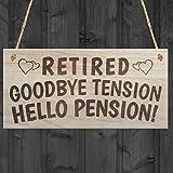 Rot Ocean Retired Goodbye Tension Hello Pension Retirement