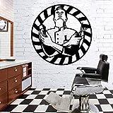 58cm X 58cm Nordic Style Accessori per barbieri Adesivi murali Adesivo Carta da parati Vinile Camera rimovibile Decorazione Decor Art Mural
