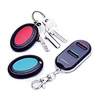 Key Finder,VODESON Wireless Key Tracker,Item Tag Locator,Beeper Alarm Tracking Device,Easy to Use Suitable for The Elderly,Find Keys,Keychain,Wallet,TV Remote Control,Phone,Pet Cat -No APP Required