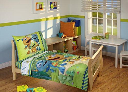 Disney Hugglemonster 4 Piece Toddler Bedding Set