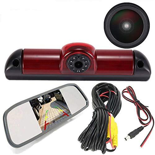 Specchietto Retrovisore Auto HD da 4,3 Pollici + 1280 * 720 Pixel 1000TV linee Super HD Auto Telecamera Retromarcia per FIAT Ducato X250 X290 Bus Kasten/Peugeot Boxter/Citroen Jumper