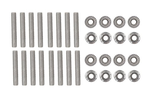 XtremeAmazing 16 Pcs Stainless Exhaust Manifold Stud Nuts kit for Ford 4.6 & 5.4 Liter V8 2 Manifolds