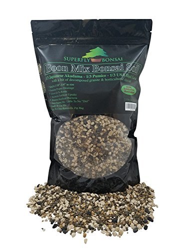 Boon Bonsai Soil Mix'Boon Mix' - Inorganic Substrate with Pumice, Lava and Akadama (2.5 Dry Quarts)