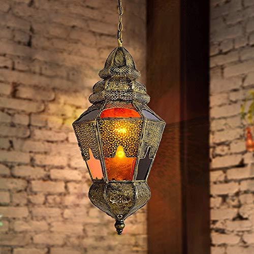 PHLPS Lámpara de Hierro del sudeste asiático Estilo tailandés Restaurante de la lámpara de Techo Colgante artístico Moderno Ligero del Accesorio de iluminación, for Cafe Bar Comedor Dormitorio Cuarto