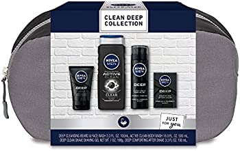 Nivea Men Clean Deep Skin Care Collection 4-Piece Gift Set