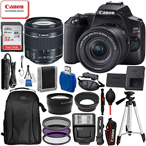 Canon EOS Rebel SL3 DSLR Camera (Black) with 18-55 IS STM USA 17pc Must Have Bundle