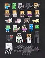 T-shirt per bambini e ragazzi, con i personaggi del videogioco Minecraft Black 14-15 Anni #2