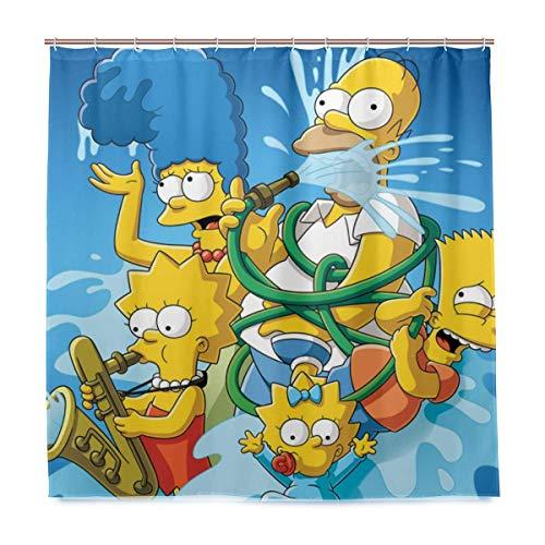 zhengdengshuibaihuodian Die Simpsons Cartoon Anime Bad duschvorhang wasserdichtes gewebe duschvorhänge