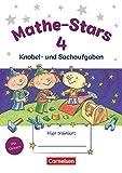 Mathe-Stars - Knobel- und Sachaufgaben - 4. Schuljahr: Übungsheft - Mit Lösungen