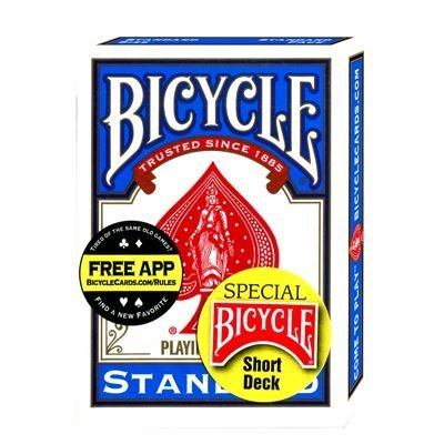 Magic Card Trick Bicycle Short Deck (blue) Us Playing Card Co.