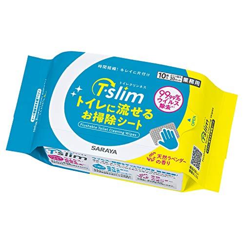 サラヤ 便座除菌シート T・Slimトイレに流せるお掃除シート 10枚入り 50278
