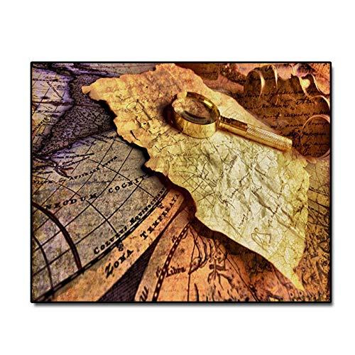 woplmh Vintage Europese stijl briefpapier canvas schilderij kalligrafie druk huis decoratie muurkunst schilderij voor woonkamer slaapkamer 60 x 80 cm (geen lijst)