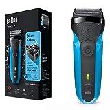 Braun Series3310s wiederaufladbarer Wet&Dry Elektrorasierer, blau