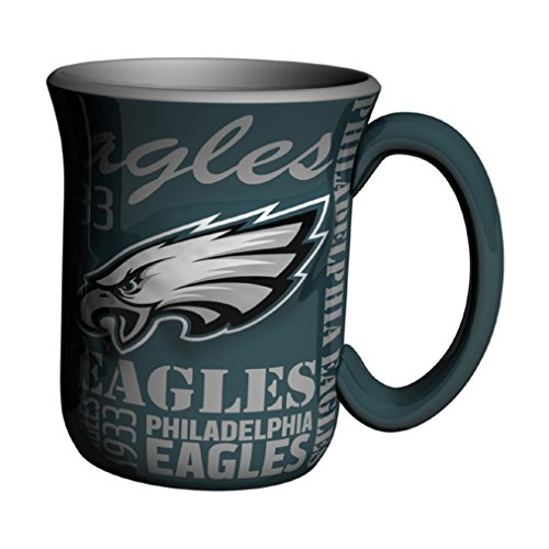 NFL Philadelphia Eagles Sculpted Spirit Mug, 17-ounce, Green